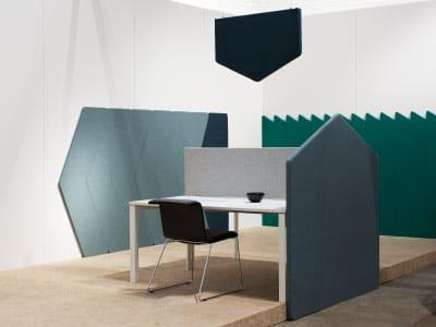 Support pour isolation sonore du poste de travail