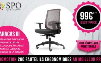 Fauteuil de bureau Paracas 3 Offre Direct d'Usine 99€