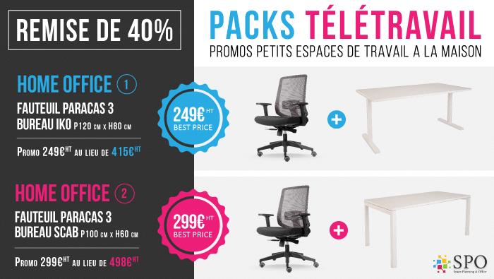 Promo Home Office spéciale Télétravail -40% de réduction